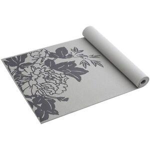Gaiam Yoga Mat New Gray Peony Prosperity Print Non Slip 68