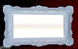 Specchio-Da-Parete-Barocco-OGGETTO-D-039-ANTIQUARIATO-BIANCO-specchio-Arredamento