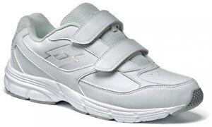 Bianco Antares Scarpe Running Velcro Strappi Lotto Ix Lth S Uomo w45O84qH