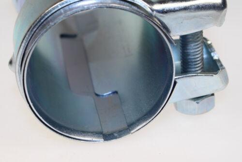 1x BayWorld Auspuff Universal Rohrverbinder 50x54,5x125mm Doppelschelle 50x125mm