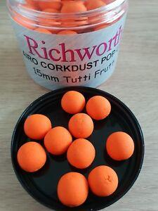 Richworth Tutti Frutti Pop-ups 15 Mm échantillon X 10 Appâts-afficher Le Titre D'origine