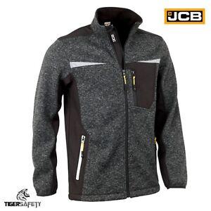 JCB-Essington-II-Grey-Marl-Sweatshirt-Knitted-Jumper-Soft-Shell-Fleece-Jacket
