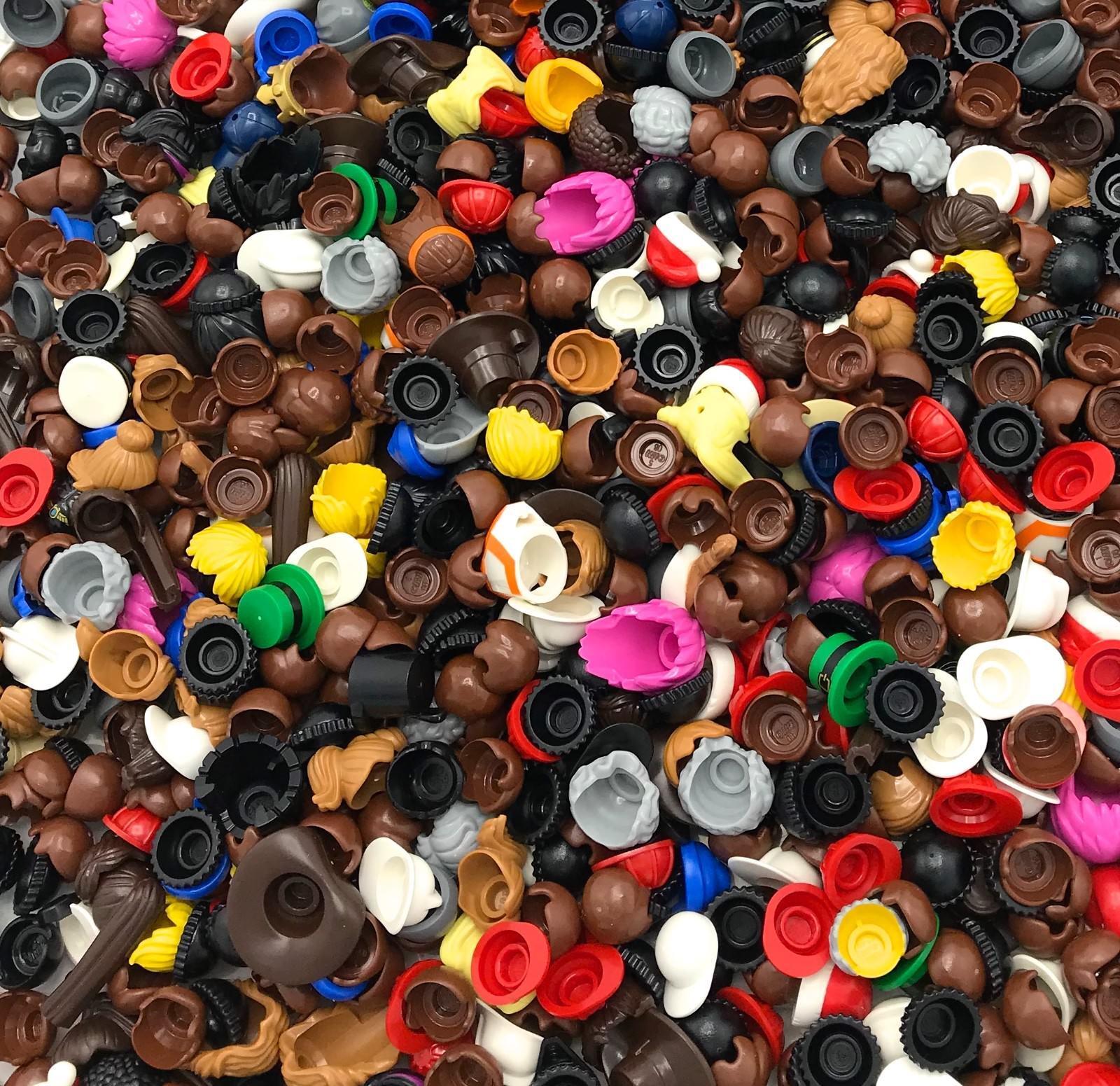 Lego Massa Lotto di 500 Nuovo  cifra Mini Capelli Cappelli Nero Marronee Ragazzo  il più alla moda