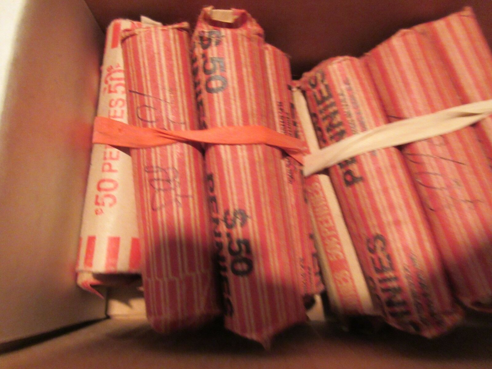 1960's,1970's,1980's ,Lincoln Penny Rolls ,Circ. ,AU ,