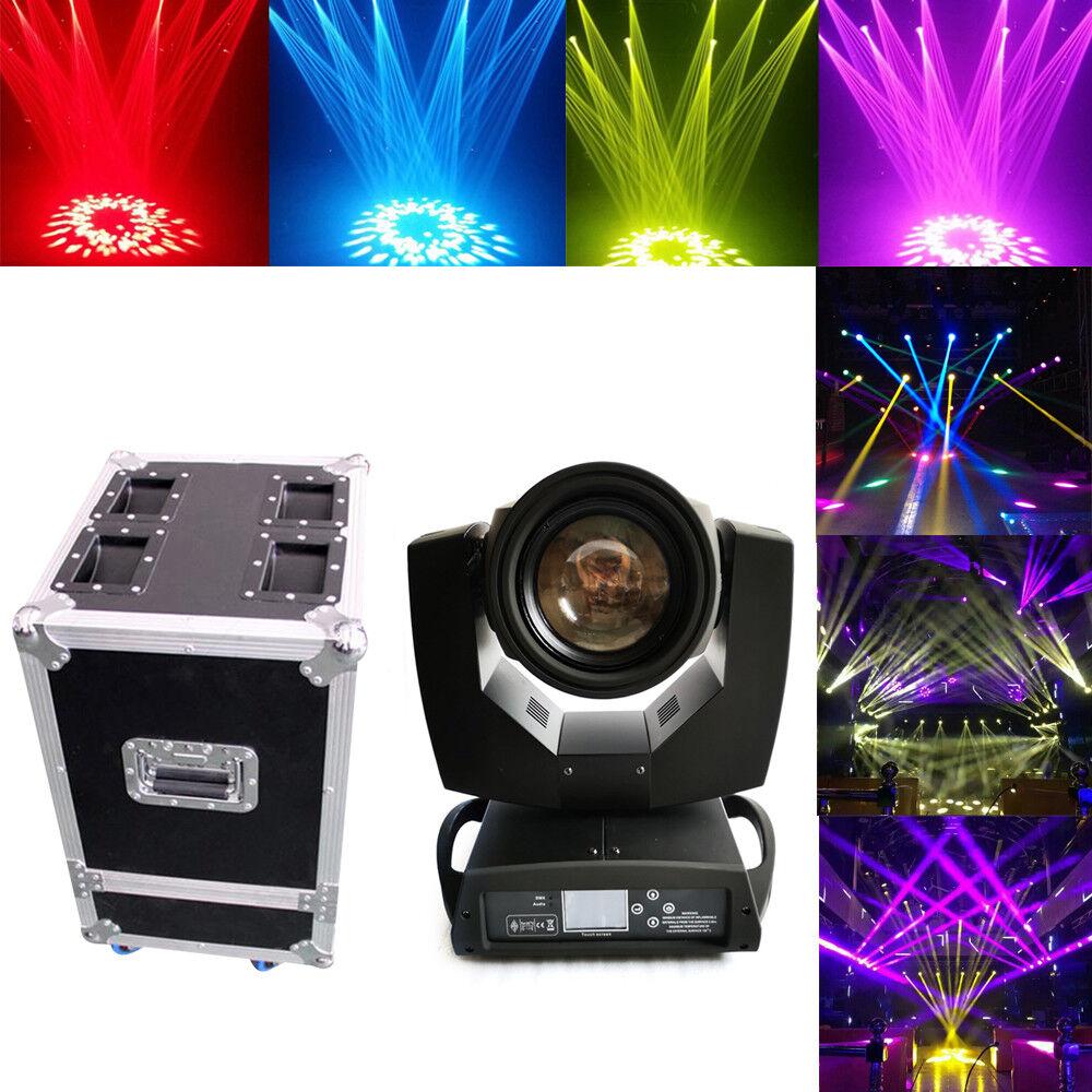 DMX512 7R 230W Beam Stage Moving Head Light DJ Gobo Spot Show Lighting+flycase