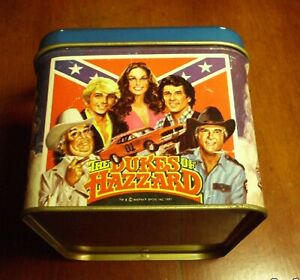 1981-WARNER-BROTHERS-Dukes-of-hazzard-lunch-BOX-IN-AS-FOUND-CONDITION
