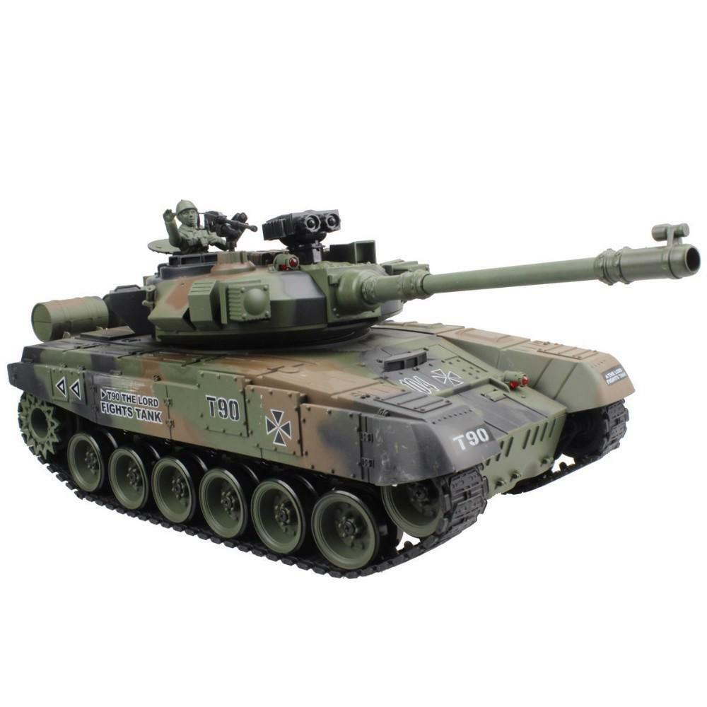 RC Battle Tank Modesl With Sound And Shoot Bullet Recoil Effects Electronic Toys