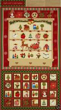 Season's Greetings Christmas Advent Calendar Quilting Panel Fabric 31402