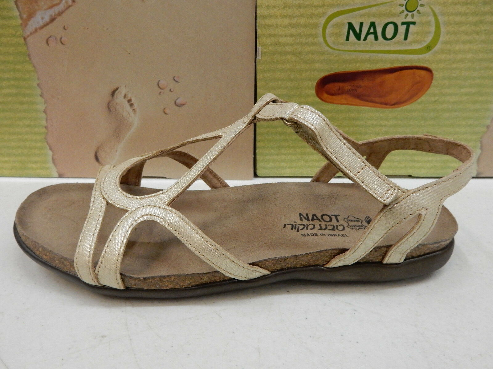 NAOT donna SANDALS DORITH oro THREADS LEATHER LEATHER LEATHER Dimensione EU 41 f2cdd6