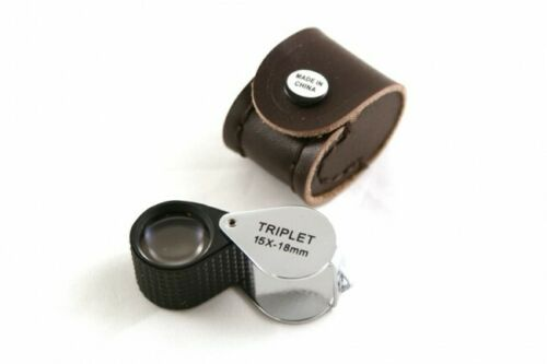 Jewellers Inspection Optical Eye Glass Magnifying Lens Loupe with Case