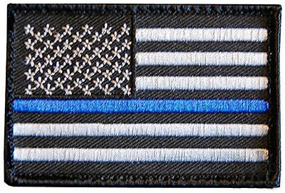 Thin Blue Line Police US Flag Iron On Patch Rothco 1709