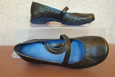 """Pre-Owned INDIGO by CLARKS Leather Man Made Green Metallic1 1"""" Heel Shoe Size 6M"""