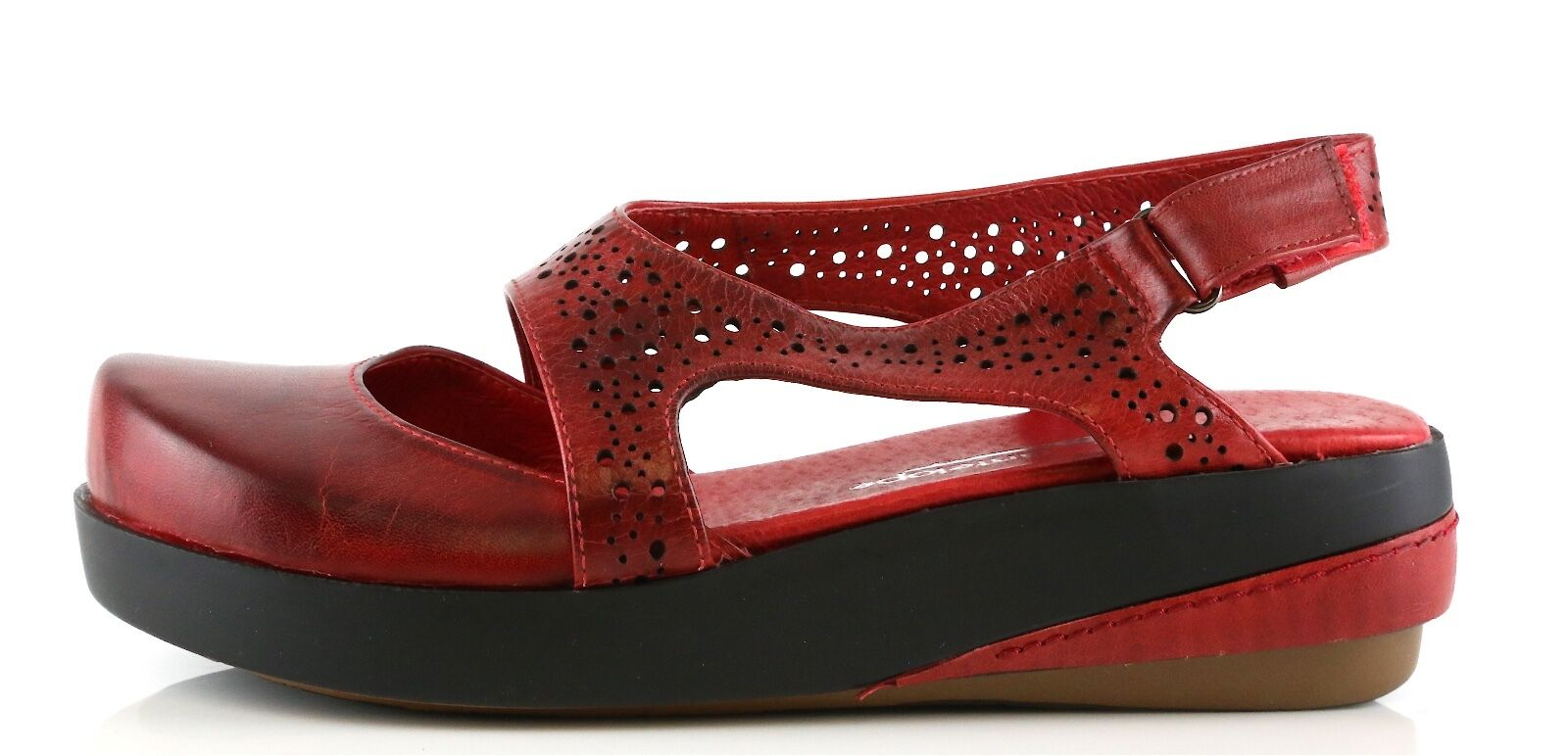 Antelope Woman's Size Red Leather Mary Jane Sandals 8975 Size Woman's 39 EU NEW! 5fec04