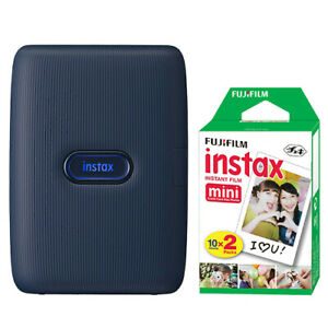 FUJIFILM INSTAX Mini Link Fuji Smartphone Printer Dark Denim + 20 Film Sheets