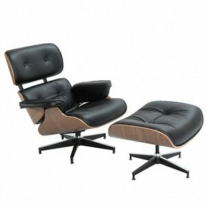 Cool Details About Classic Eames Lounge Chair Ottoman High Quality Italian Leather Black Walnut Unemploymentrelief Wooden Chair Designs For Living Room Unemploymentrelieforg