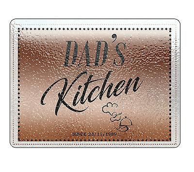 Dad/'s kitchen personnalisé à découper planche décorative objet tout texte image logo