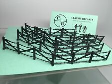 MARX Battle Ground Playset BARBED WIRE FENCE WWII Recast 1/32 SCALE 10 Pieces