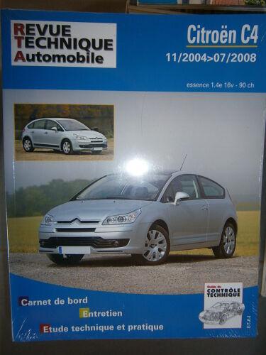 revue technique RTA B7505 Citroën C4 essence 1.4e 16V 90ch 11//2004 à 07//2008
