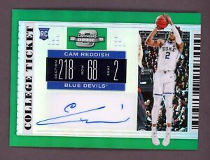 2019-Panini-Contenders-Green-Optic-College-Ticket-Cam-Reddish-RC-Rookie-AUTO-5-5