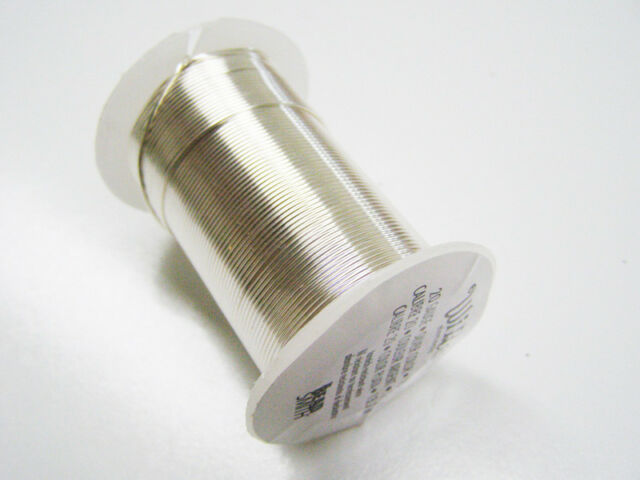 Beading Wire Gauge | The Bead Smith Silver Color Wire Spool 24 Gauge 30 Yards Ornaments