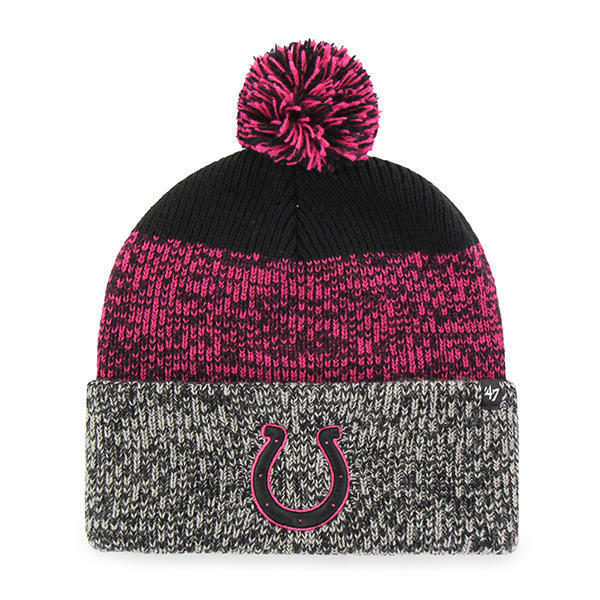 Indianapolis Colts 47 BRAND Knit Hat Beanie Static Cuff Pink  c8bcf2fbcae6