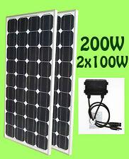 200W ( 2 x 100W ) Grade A Solar Panel panneau solaire 12V RV Boat Trailer