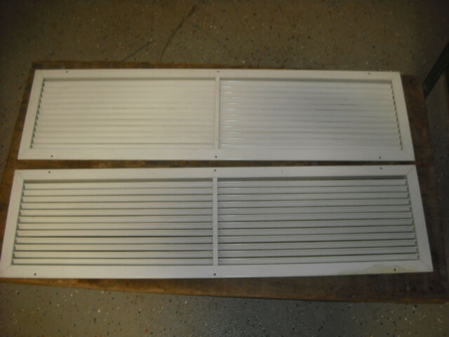 "Lot of Large Wall/Ceiling Registers Fix Aluminum Louvers for  42"" x 10"" Openning"