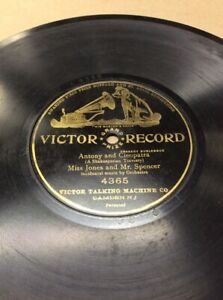 1904-Victor-Record-10-034-Anthony-Cleopatra-4365-78rpm-FREE-SHIPPING-B50S16