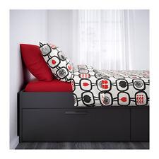 IKEA BRIMNES Struttura letto con contenitore, nero 28 doghe Luröy 140x200 cm