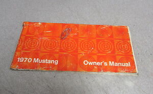 ford mustang owners owners manual original ebay