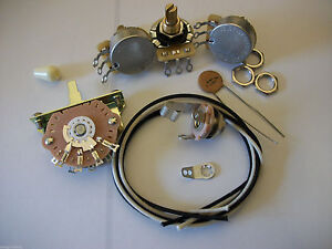 Wiring-Harness-Kit-For-Strat-CTS-Oak-Switchcraft-1uf-Tecate-Ceramic-Cap-1970-039-s