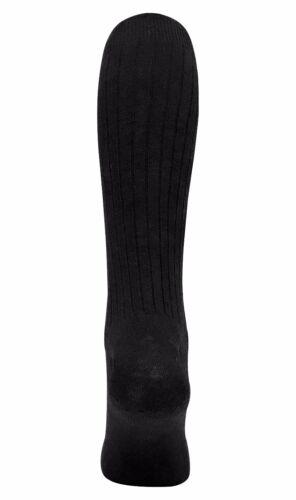 3 Paires Homme Extra Long 100/% Coton Hautes mince lumière Côtelé Robe Chaussettes