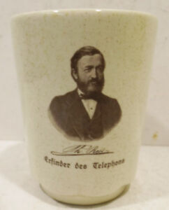Collection-Mug-Wachtersbach-W-Germany-034-Th-reis-Inventor-Des-Telefons-034