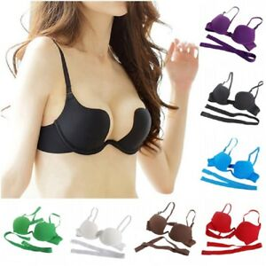 0ea29f1d36 Ultra Deep U Plunge V Bra Max Low Cleavage Padded Convertible Push ...
