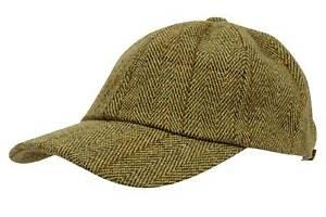 Mens-Tweed-Baseball-Cap-Teflon-Coated-Derby-Wool-Waterproof-New-Fishing-Hunting