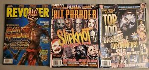 Hit-Parader-Revolver-Magazine-X-3-Iron-Maiden-Slipknot-100-All-Time-Bass-Drums