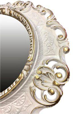 Miroir mural miroir en or ovale 45 x 38 cm BAROQUE ANTIQUE REPRO VINTAGE 345 26
