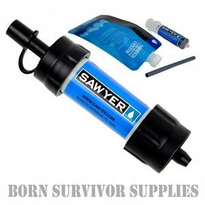 Genuine-SAWYER-MINI-WATER-FILTER-KIT-Filtration-Survival-Purification-Straw