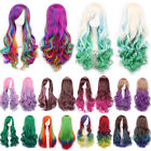Hot Women Lady Long Hair Curly Wavy Synthetic Anime Cosplay Party Full Wig Wigs