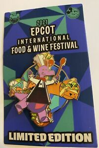 Disney Epcot Food and Wine 2021 Limited Figment Chef Spinning Pin New with Card