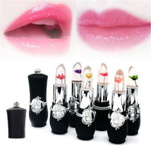 Details About Flower Lipstick Color Jelly Magic Moisture Lip Balm Temperature Change Cool