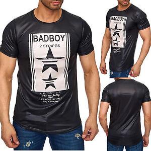Shirt Glossy Hfd Tee 2151 Optik Leder Oversize T Herren Ebay q7xRAES