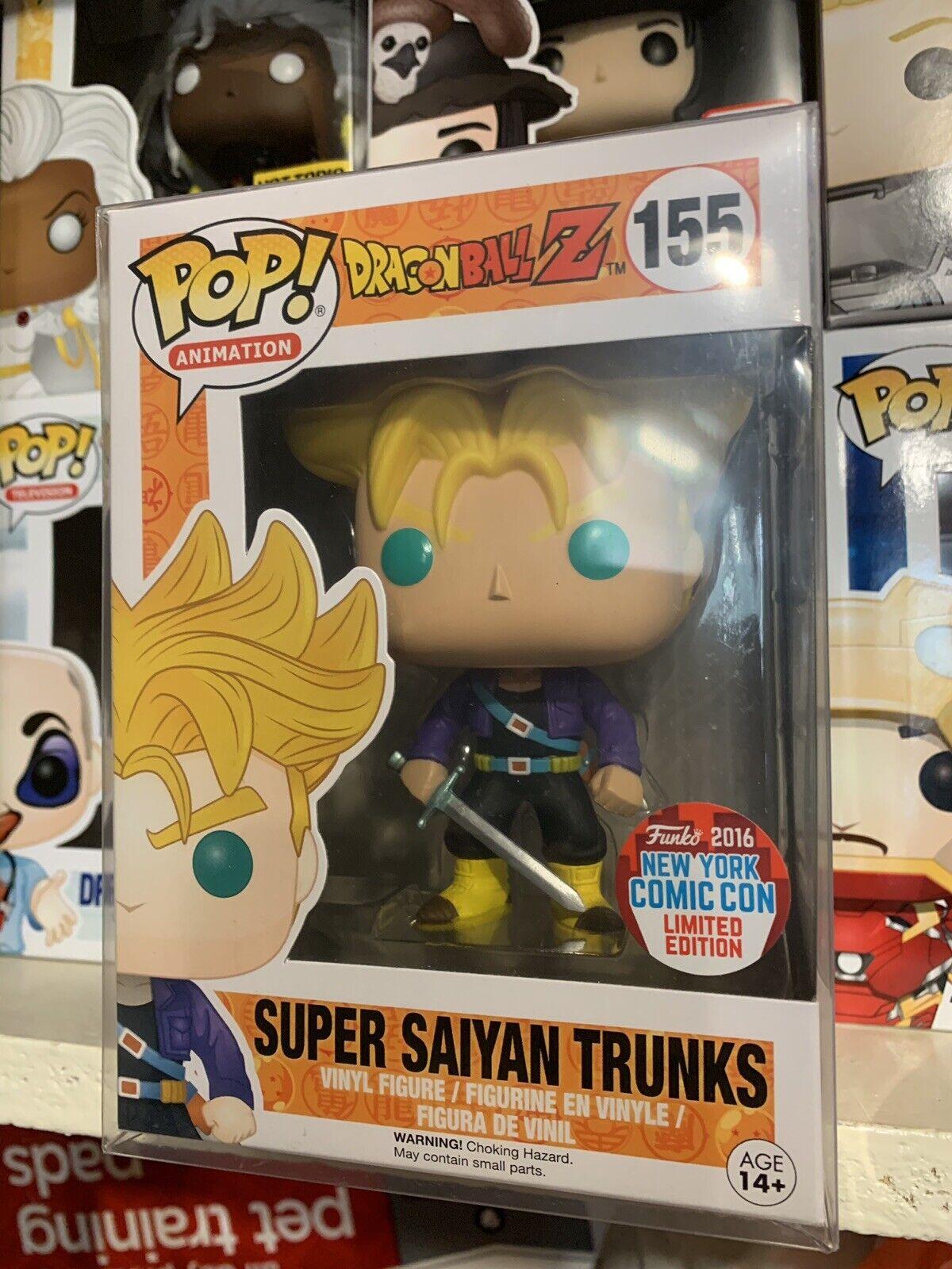 Funko Pop  Super Saiyan Trunks Dragon Ball Z NYCC 2016 Exclusive New Protector