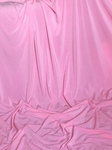 """Plain Bebé Rosa 4 vías Strech Tela de Lycra Spandex Lycra Danza de baño de 60/"""" de ancho"""