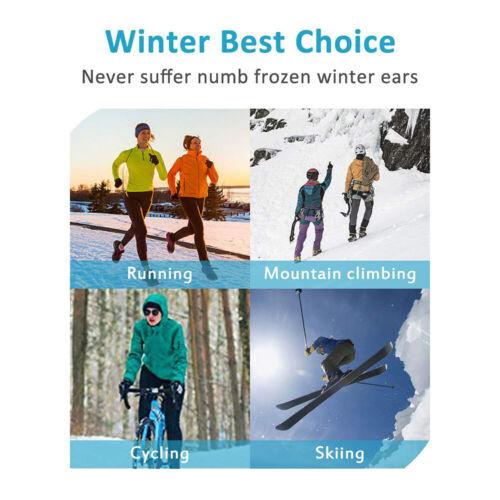 Men/'s Women/'s Ear Muff Headband Sports Ski Winter Fleece Hair Band Earmuff Hat