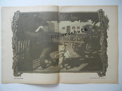 Intellective Original Sheet Magazine Youth 1907 b453 Eichler Hoess : Rauhenzell High Quality