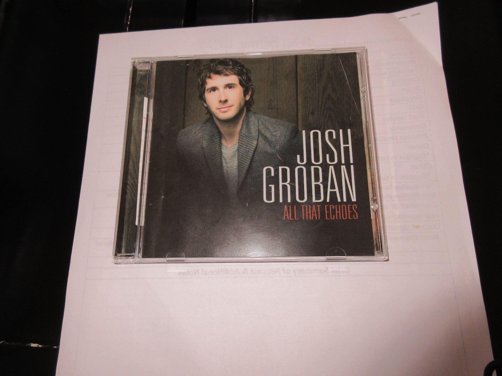 Josh Groban , All That Echoes , CD