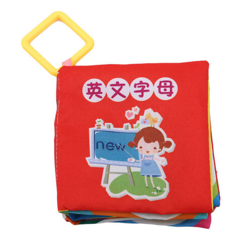 Baby Toys Cloth Books Rustle Sound Infant Educational Stroller Rattle Toy LH