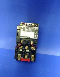 Square d nema size 0 starter 3 phase 8536 jh ebay for Class 1 div 2 motor disconnect switch