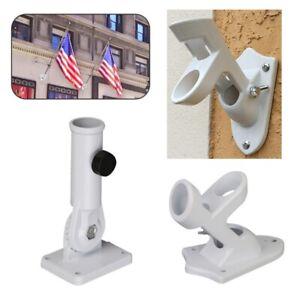 Adjustable-Wall-Mounted-Flag-Bracket-Holder-Aluminum-Windsock-Base-Flagpole